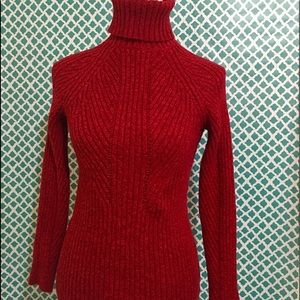 Sundance🦋 Red Turtle Neck Sweater